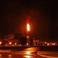 Факел возле главной конторы, Коммунарск