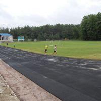 Тренируются триатлонисты, Кременная