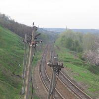 Вид с автомобильного моста в сторону Рубежного, Лисичанск