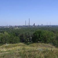 """Вид с горы на """"Азот"""", Лисичанск"""