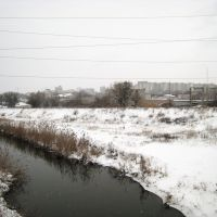 Вид с моста на центр города. View from the bridge to city center., Луганск