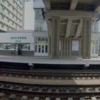Панорама ЖД вокзала с перрона, Луганск