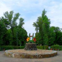 """Встреча возле """"тюльпанов"""", Лутугино"""