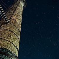 Труба кательной,врашение звёзд с выдержкой 10.10 минут, Первомайск