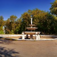 Панорама старый фонтан в парке с 6-ти фото, Рубежное