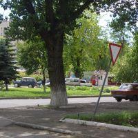 дорожный знак в центре города, Свердловск