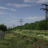 пути на бывшую шахту Войкова и бывший Свердлвский машзавод, Свердловск