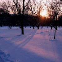 Зимний закат, Северодонецк