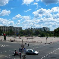 Victory square, Severodonetsk, Северодонецк