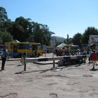 м.Буськ липень 2010р.автостанція біля базару, Буск