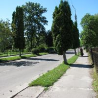 м.Буськ біля Ощадного банку.липень2010р., Буск