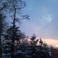 Пустомити, грудень-захід  / winter sunset, Жолкиев