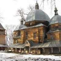 Вид на церкву св. Миколая, Каменка-Бугская