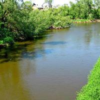 Пограничная река Западный Буг,у Варшавы впадает в Нарев,недалеко от его впадения в Вислу., Каменка-Бугская