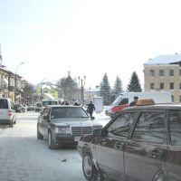 Проезд через центральную площадь мимо университета, что справа. Вид на восток., Самбор