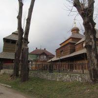 церква св. Параскеви (вона ж церква вмч. Пантелеймона), 17 ст. * wooden church from 17th century, Сколе