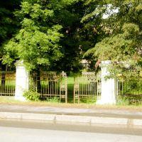 Дворец и парк баронов Грьодлей. Ограда, кон. XIX в., Сколе