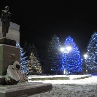 Skole (Ukraine) - Monument to Stepan Bandera / Сколе (Львівська обл., Україна) - Памятник Степанові Бандері, Сколе