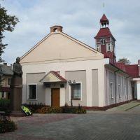 Ратуша и памятник Е.Петрушевичу (Сокаль, Україна), Сокаль
