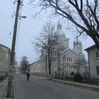 grey houses, grey church, Стрый