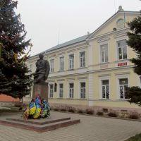 Степан Бандера біля своєї alma mater, Стрый