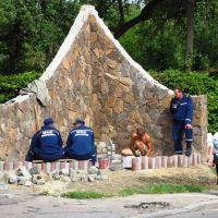 щось будують, працюють, рятувальники .., Трускавец