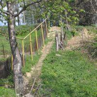 Steps to Jewish cemetery in Turka, Турка