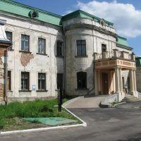 Палац Потоцьких розташований між школою та стадіоном, Червоноград