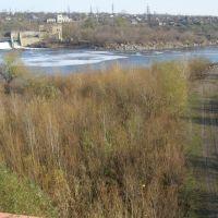 Вознисенська ГЕС з моста (Voznysenska GEC from brig), Александровка