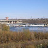 стара дамба ГЕС з моста (old damba GES from brig), Александровка