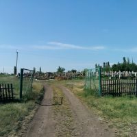 вход на кладбище в Братском, Братское
