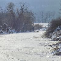 Зимняя речка., Доманевка