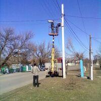 Установка уличных фонарей, Снигиревка