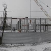 Панорама стройки в марте под снегом, Снигиревка