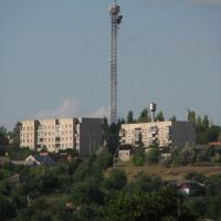 Вид с моста 1-го участка на вышку, Ананьев