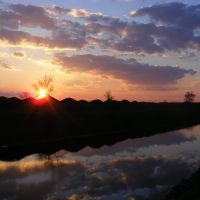 Artsyz, sunset, Арциз