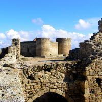 Так было до реставрации. Вид на Генуэзсский замок., Белгород-Днестровский