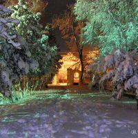 Буйство красок зимней ночи.Парк Ленина., Белгород-Днестровский