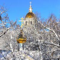 Сквозь снег сияют купола.Свято-Вознесенский собор., Белгород-Днестровский