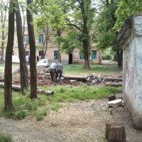 Изъятие труб со старой теплотрассы, Великодолининское