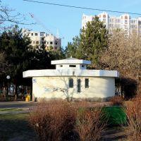 """WC. """"Туалэт типа сортир, обозначенный на схеме буквами МЭ и ЖО..."""" в приморском парке., Ильичевск"""