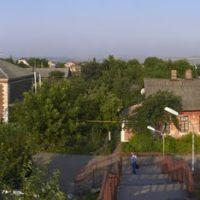 Улица в Котовске. Вид с надрельсового перехода., Котовск
