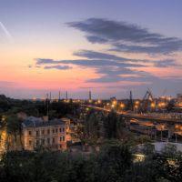 Вид с Приморского бульвара на Пересыпь с кусочком порта, Одесса