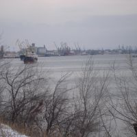 Danube river, Reni,Port, Ukraine, Рени