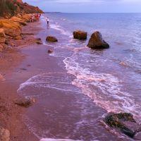 закат на городском пляже, г . Южный, Южный
