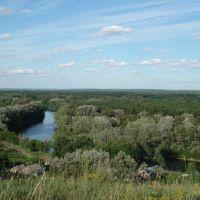 Вид с горы на р.Псел, Великая Багачка