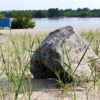 Stone on a beach. May 2009, Кременчуг