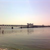 Мост через Днепр. The bridge across the Dnieper, Кременчуг