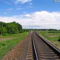 Путепровод над перегоном Марьяновка - Гребёнка, перегон Писарщина - Гребёнка, Оржица