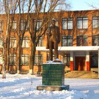 Памятник В. Ульянову на подвірї НВК №1. Monument for V. Ulianov in the front of School №1, Семеновка